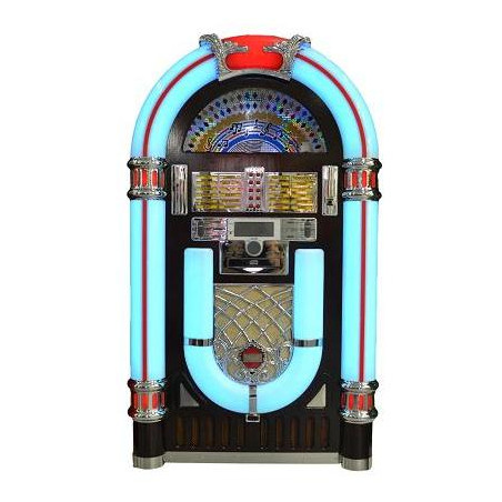 JUKEBOX CON TOCADISCOS, RADIO, CD, MP3 Y USB/SD