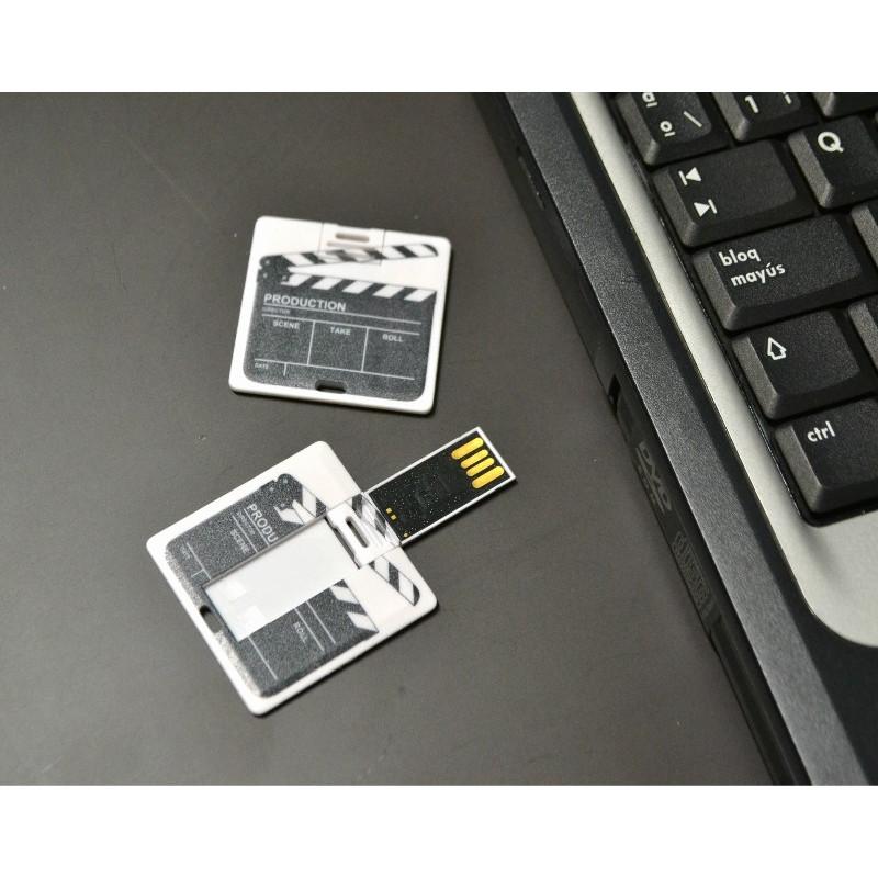 """Pendrive extraplano """"CLAQUETA"""" de 16GB - regalos originales y curiosos"""