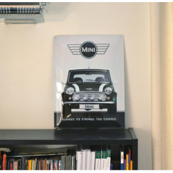 Imagén: PLACA DE METAL MINI COOPER