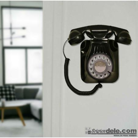 RÉPLICA TELÉFONO RETRO BAQUELITA DE PARED