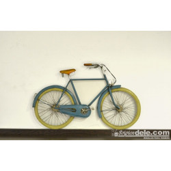 APLIQUE PARED BICICLETA RETRO AZUL