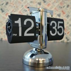 reloj láminas flip flop clock