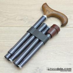 Bastón plegable aluminio gris