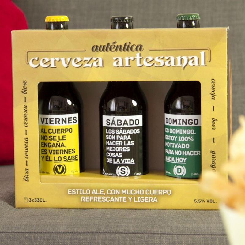 SET DE 3 CERVEZAS ARTESANAS