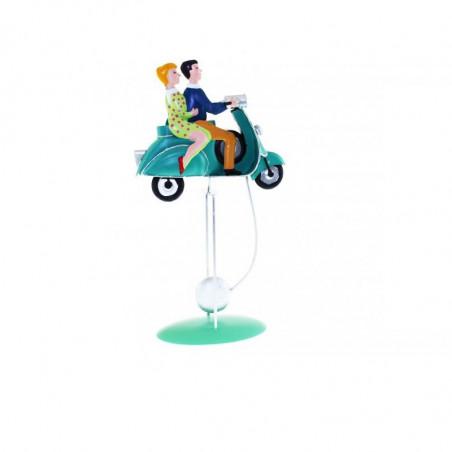 figura balanceo moto retro