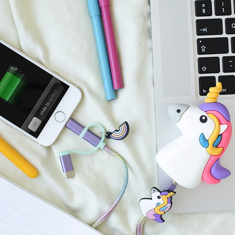 batería externa unicornio