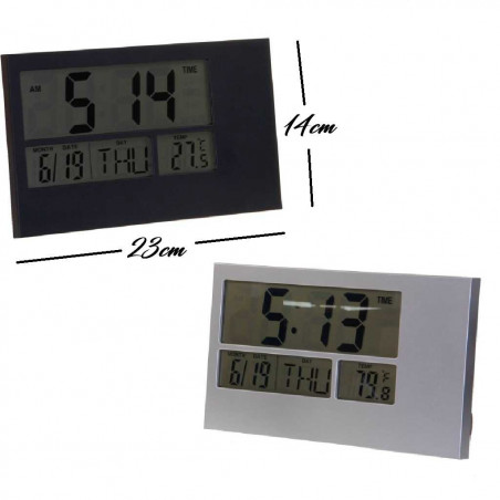 Reloj digital de pared y sobremesa