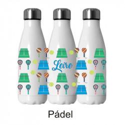 Botella termo personalizada padel