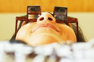 gafas para leer tumbado