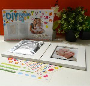 marco doble para huella y foto bebe